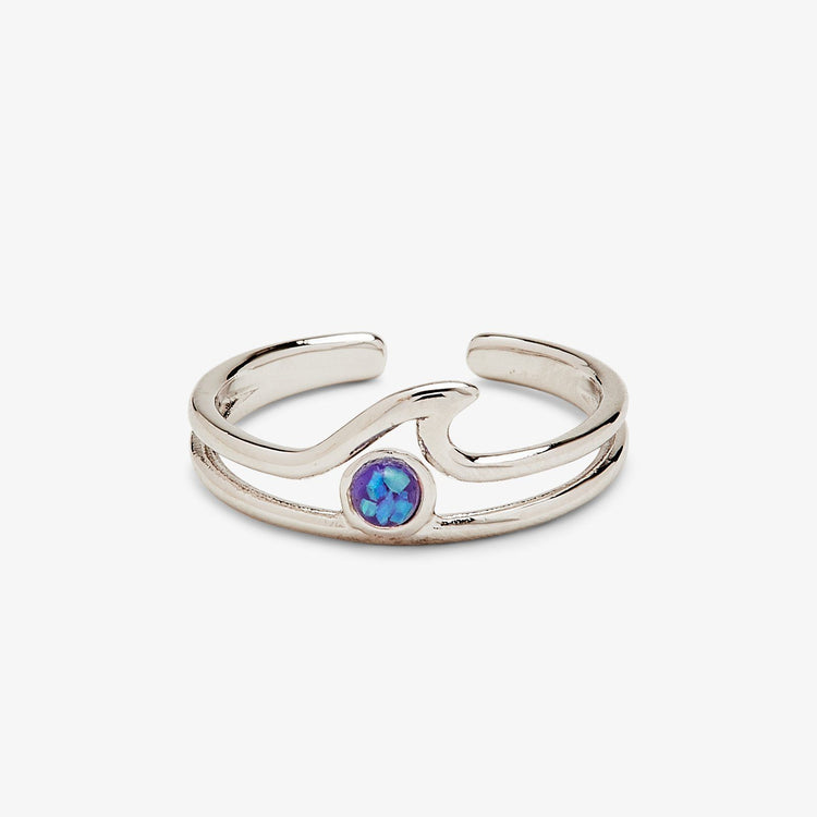 Opal Wave Toe Ring