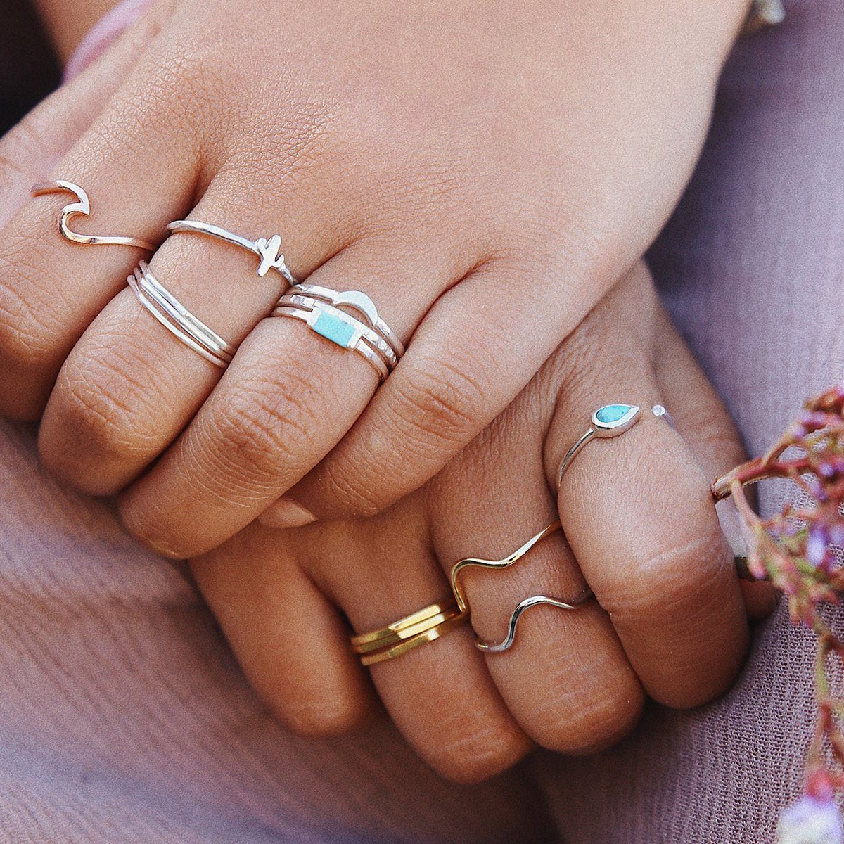 Delicate Stacked Ring 4