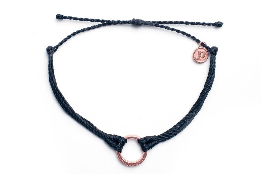 Rose Gold Circle Black