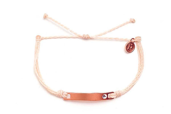 Rose Gold Crystal Flat Bar Vanilla