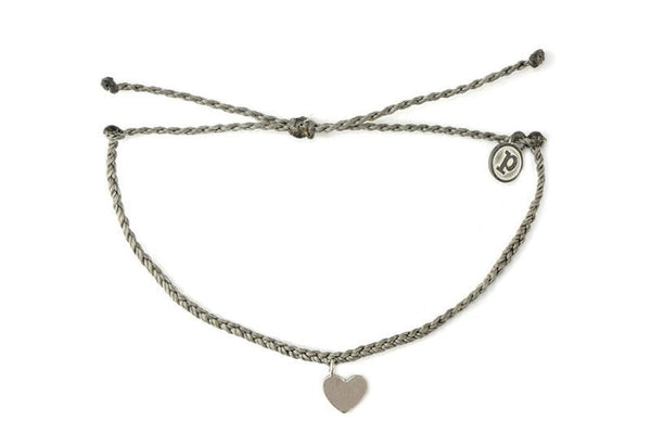 Silver Charms - Silver Bitty Heart Dark Grey