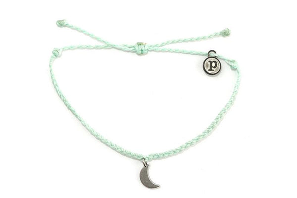 Silver Charms - Silver Bitty Moon Seafoam