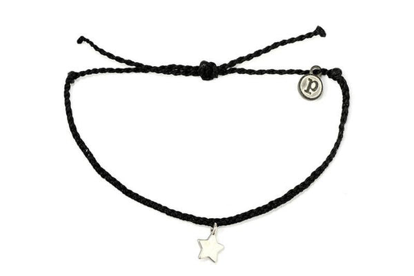 Silver Charms - Silver Bitty Star Black