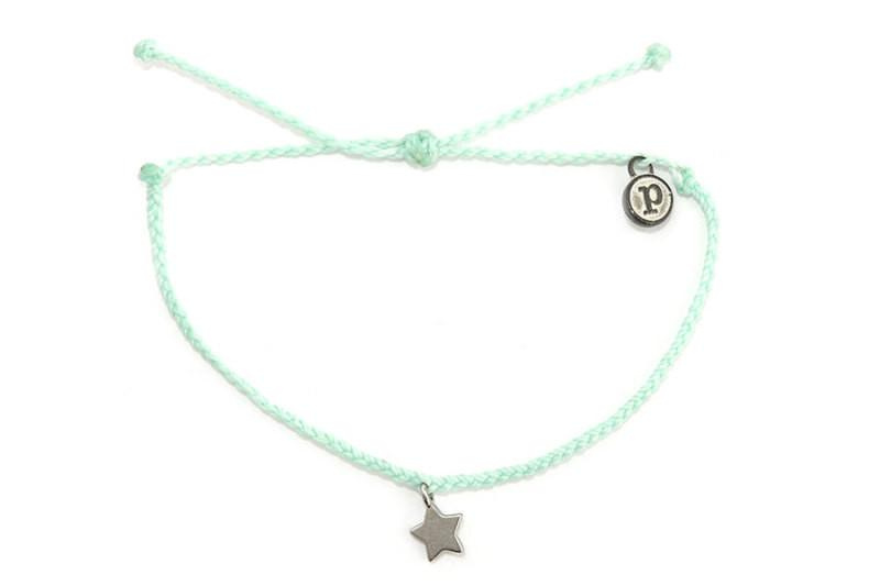 Silver Charms - Silver Bitty Star Seafoam