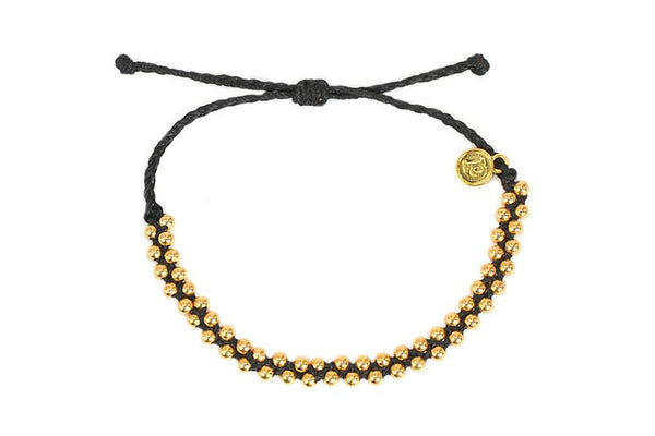 Track Beads - Gold Track Bead Black