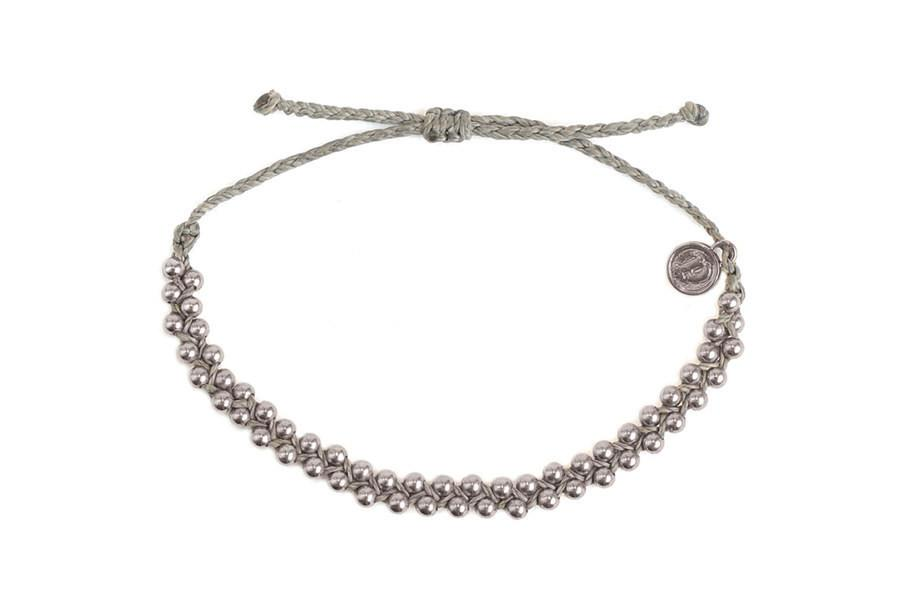 Track Beads - Silver Track Bead Grey