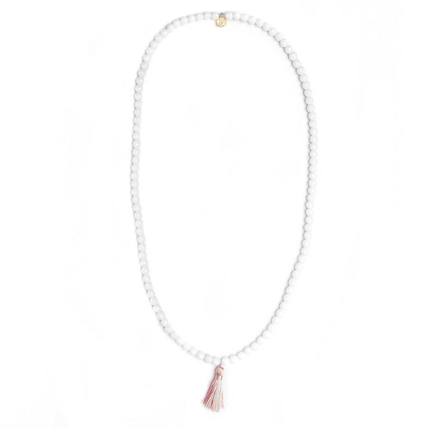 White Sands Mala Bead Necklace