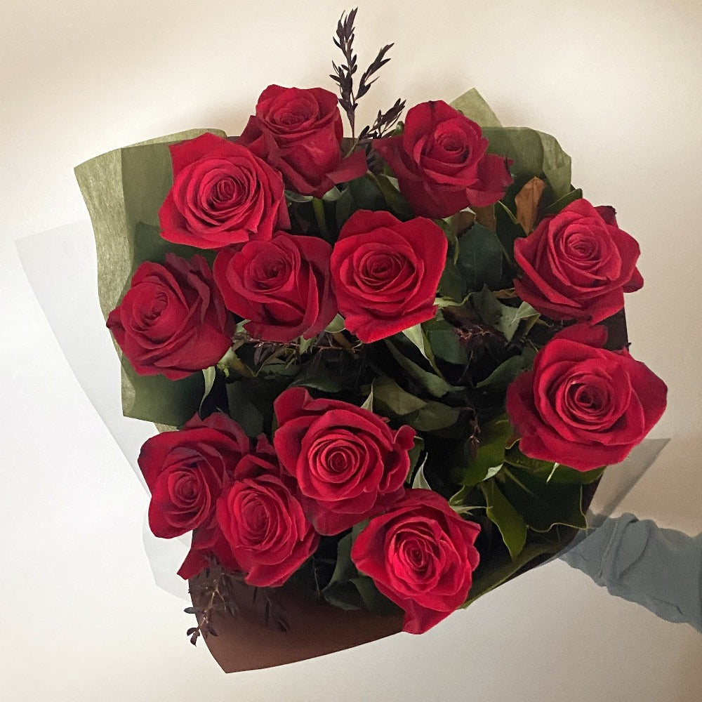 Dozen Long Stem Columbian Red Roses