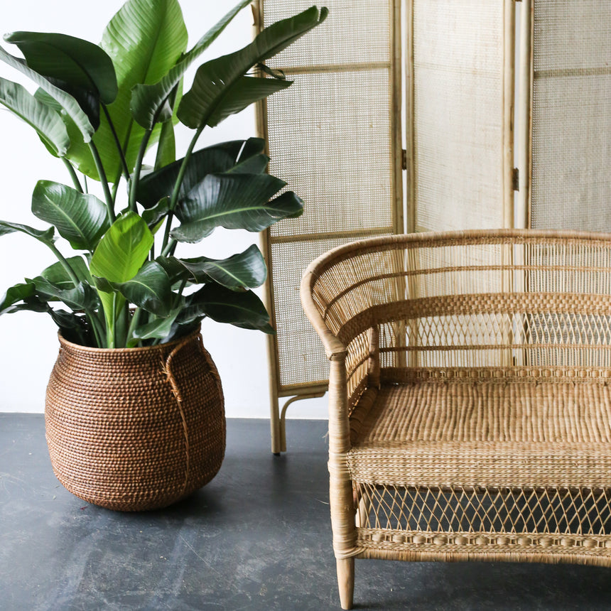 Rattan Love Seat from Malawi