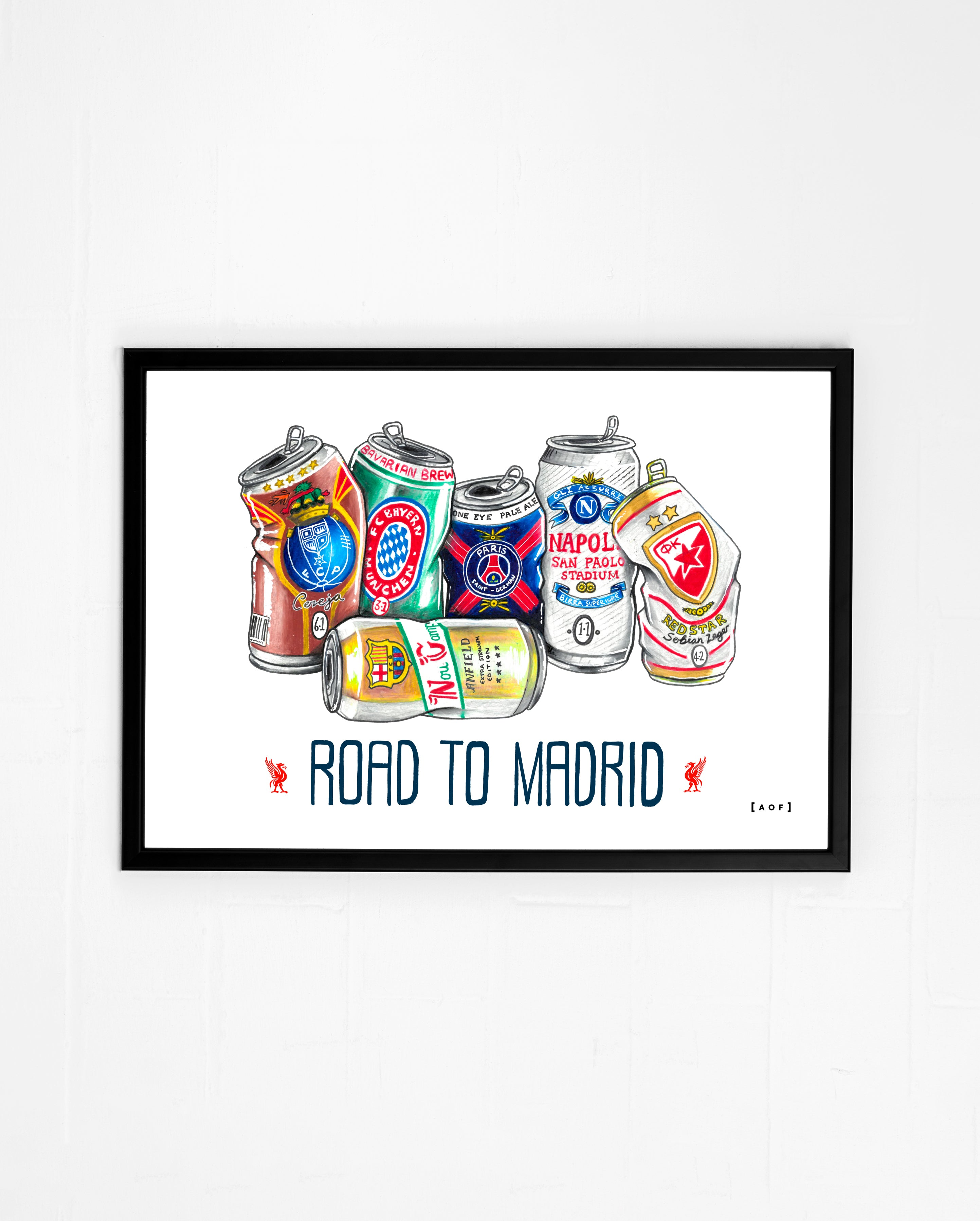 Liverpool Road to Madrid- Print or Canvas