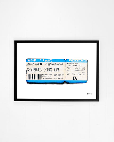 Ticket To Championship - Print or Canvas