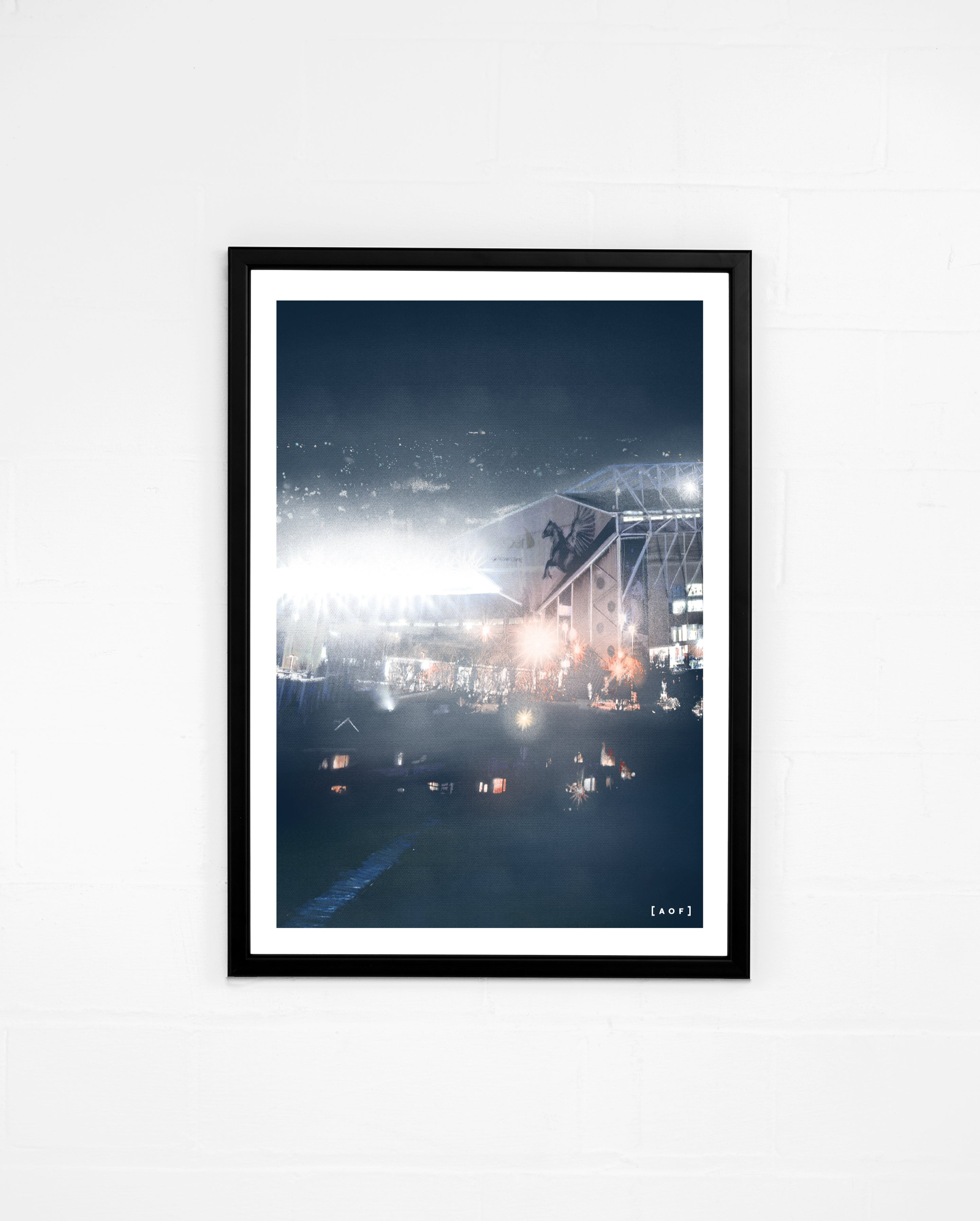 Elland Road by Night - Print or Canvas