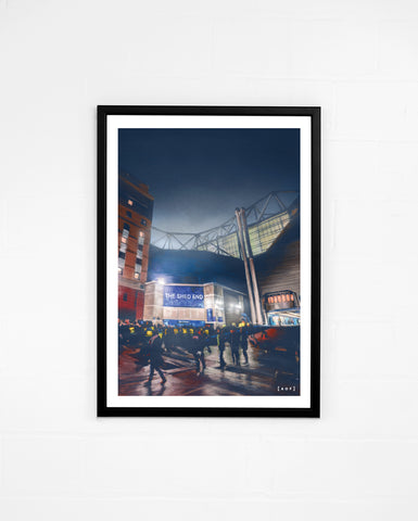 Shed End by Night - Print or Canvas