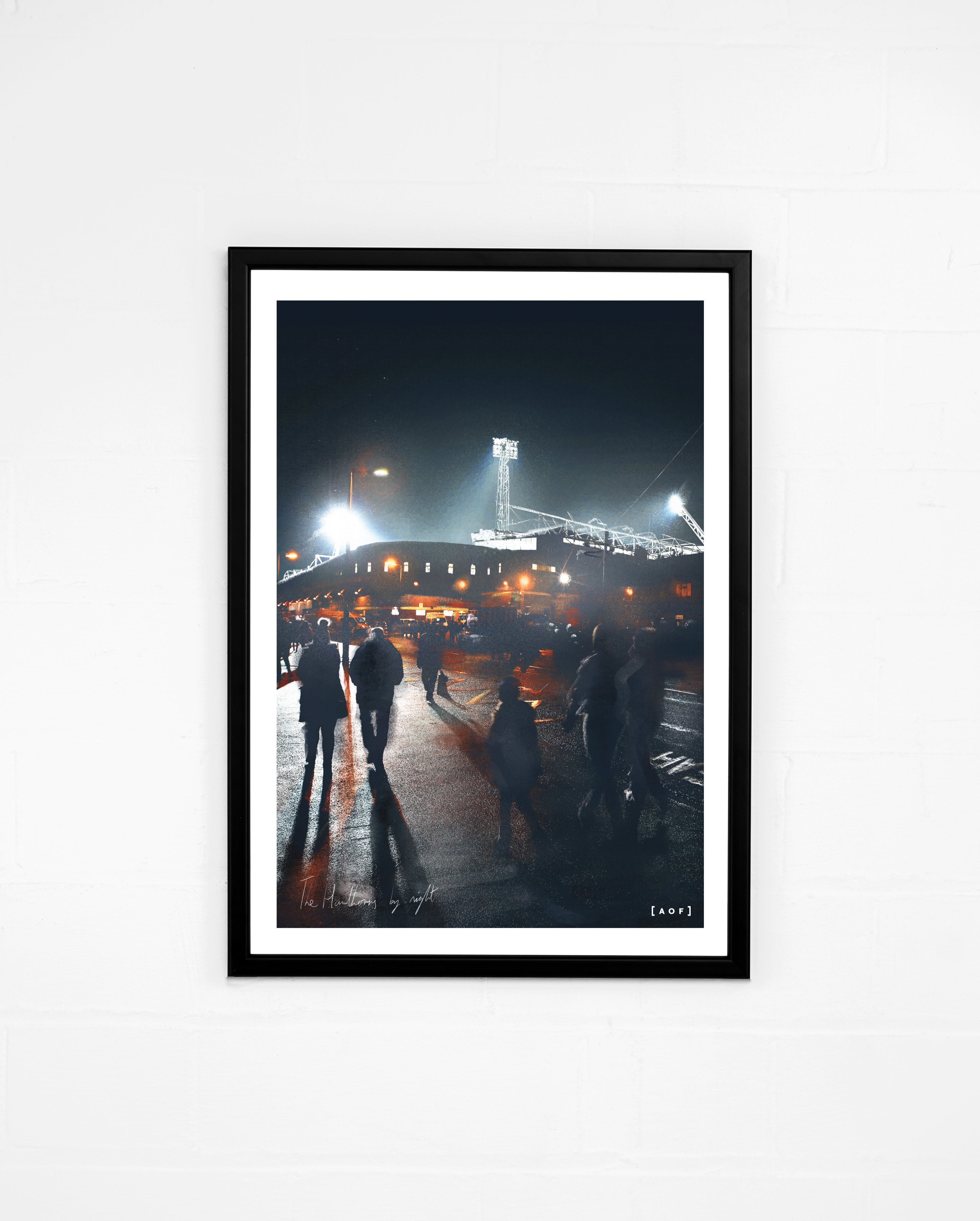 The Hawthorns by Night - Print or Canvas