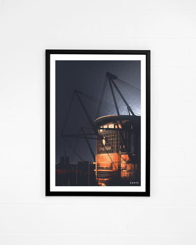 Etihad Stadium by Night - Print or Canvas