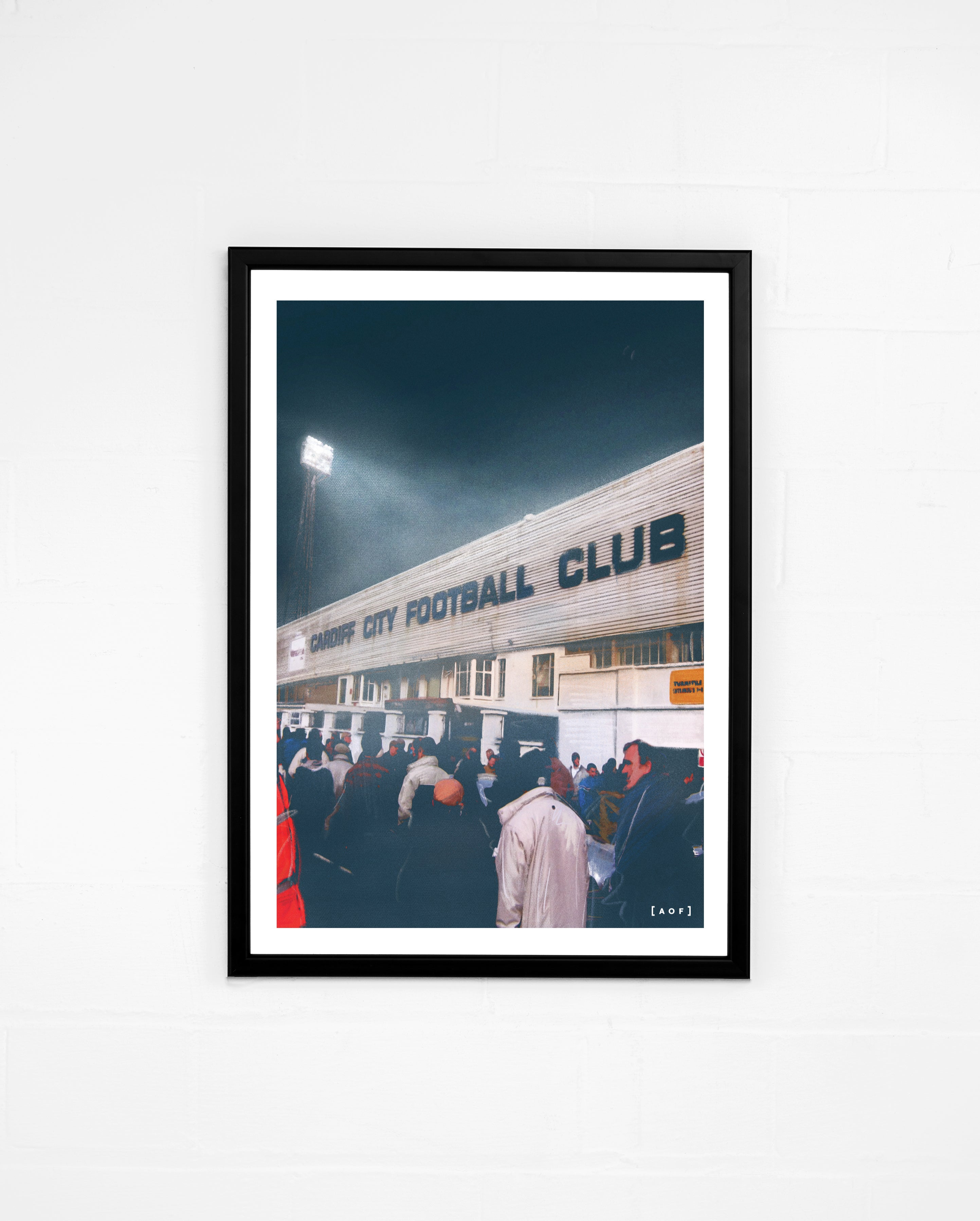 Ninian Park by Night - Print or Canvas