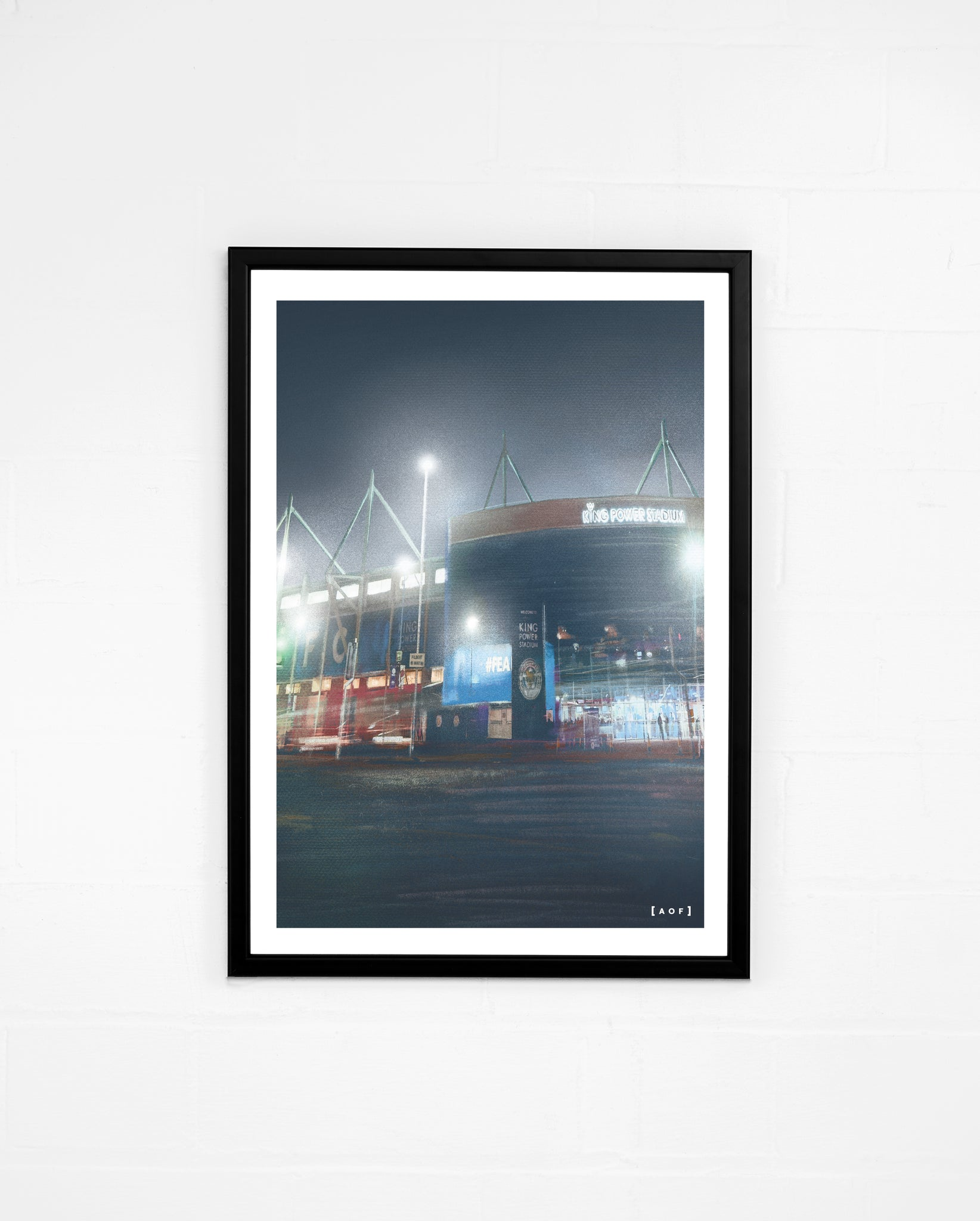King Power Stadium by Night - Print or Canvas