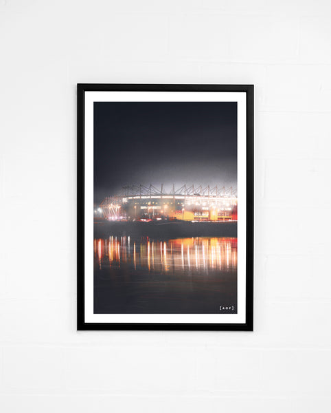 Riverside by Night - Print or Canvas
