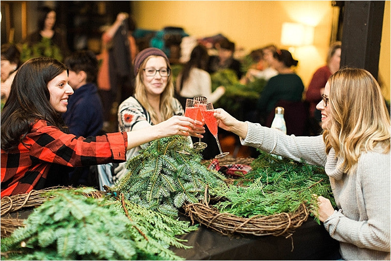 Holiday Wreath Workshops with Trinity's Florals