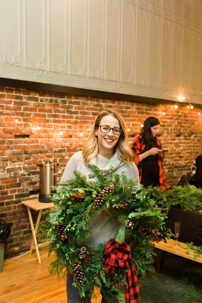 Holiday Living Wreath Workshop with Trinity's Florals