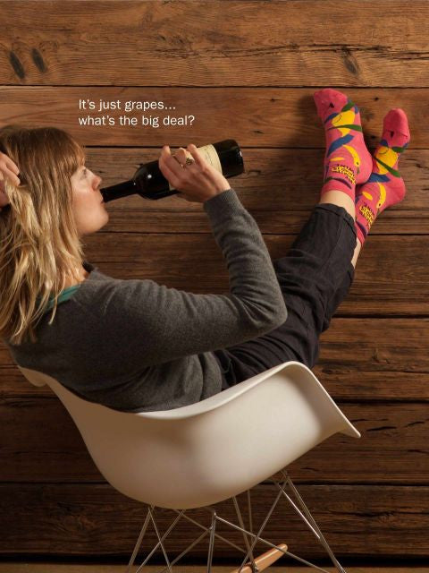 My Favourite Salad Is Wine Socks -  - 4