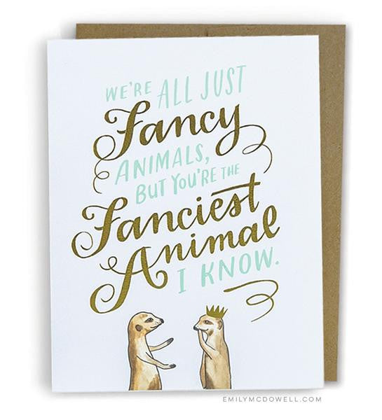 Fancy Animal Card - La Quaintrelle