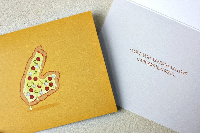 Cape Breton Pizza Card - La Quaintrelle