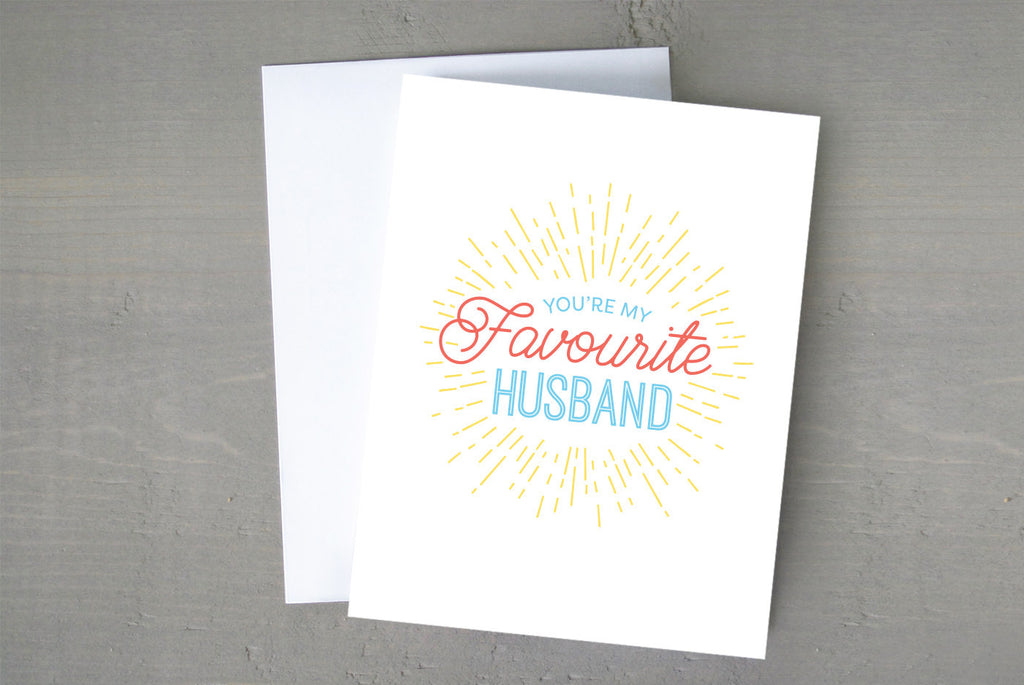 Favourite Husband Card - La Quaintrelle