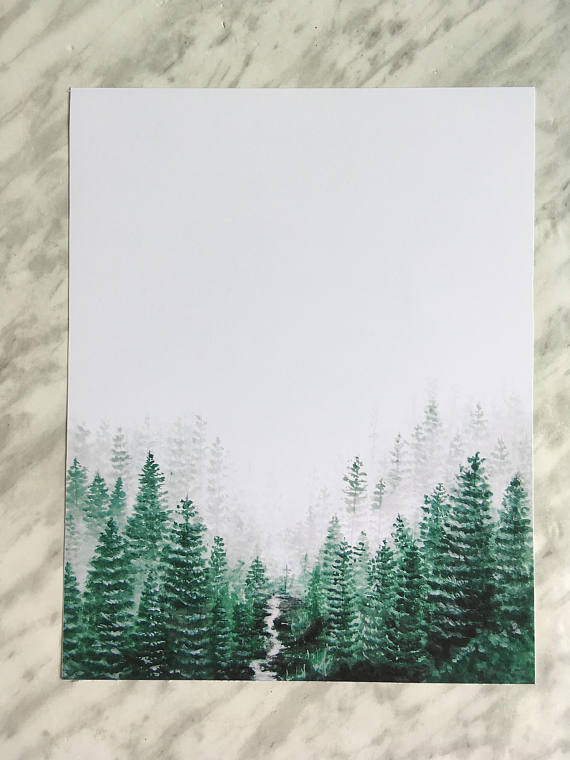Misty Forest Print