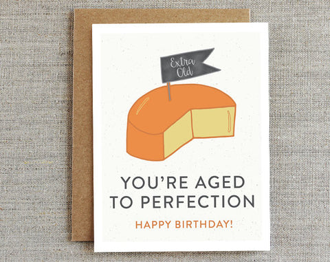 Aged To Perfection Card - La Quaintrelle