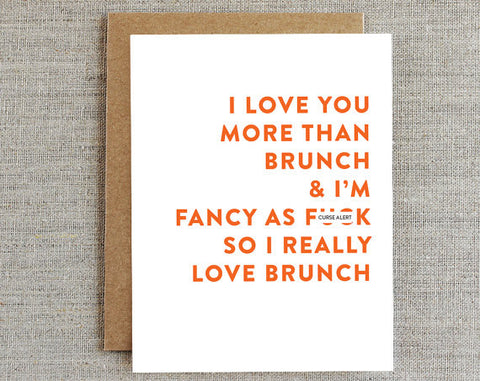 I Love You More Than Brunch Card - La Quaintrelle - 1