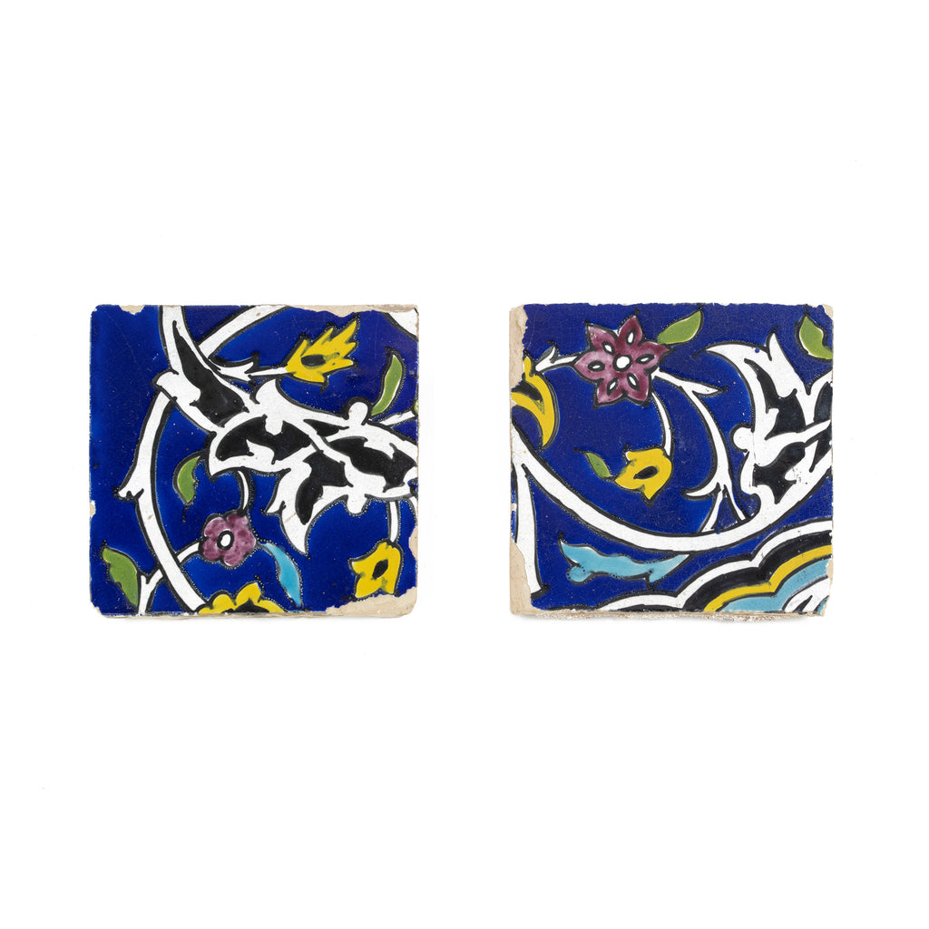 A Pair of Persian Faience Tiles | 18th Century