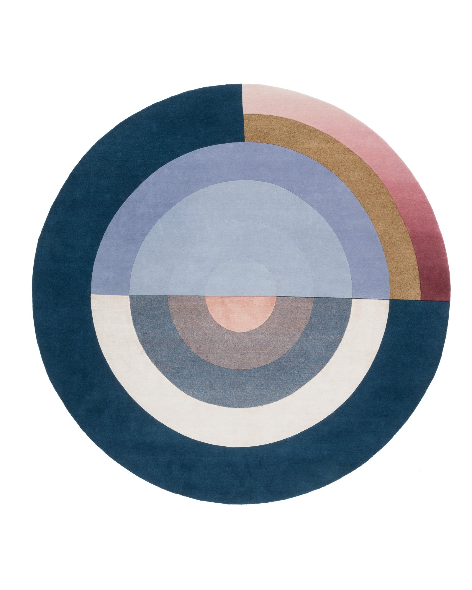 Bliss Round Blue | cc-tapis