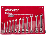 12 PC Flex-Head Ratcheting Wrench Set