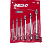 6-Piece Metric Double Ended Flex Star Socket Wrenches