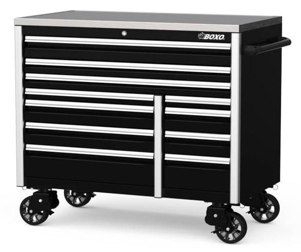 "54"" 11-Drawer Elite Series Bottom Roll Tool Cabinet (Gloss Black)"