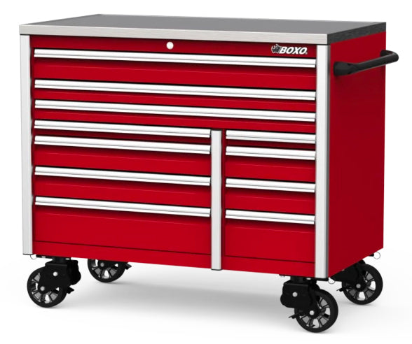 "54"" 11-Drawer Elite Series Bottom Roll Tool Cabinet (Gloss Red)"