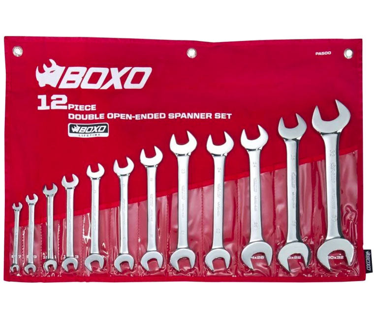 12-Piece Metric Double Open-Ended Wrench Set