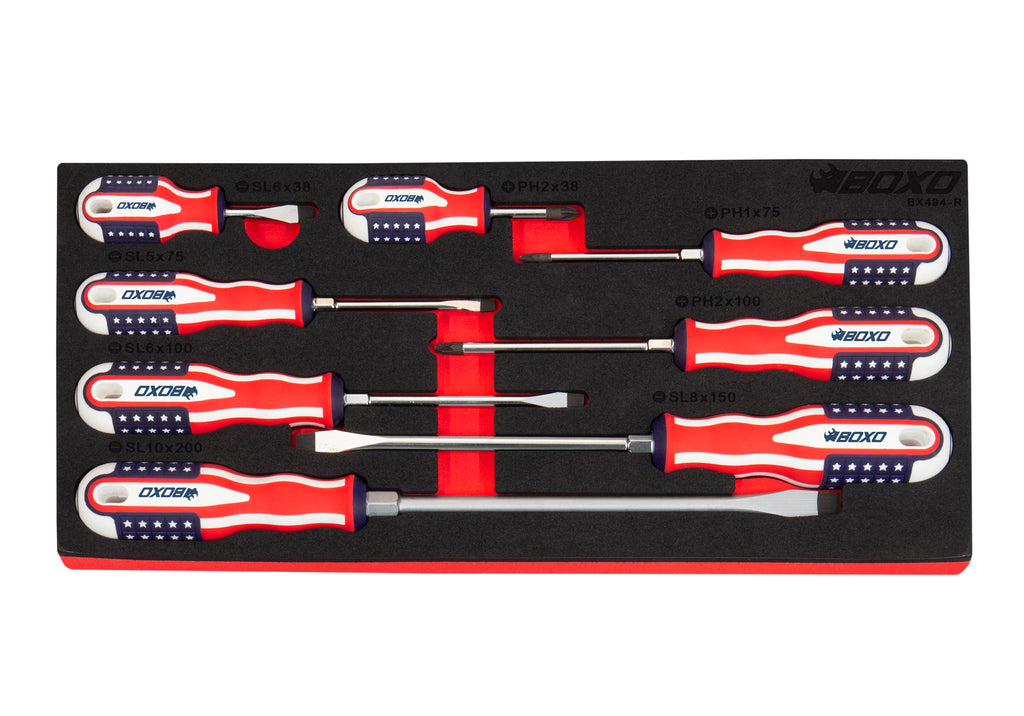 Limited Edition 8-Piece American Flag Handle Screwdriver Set