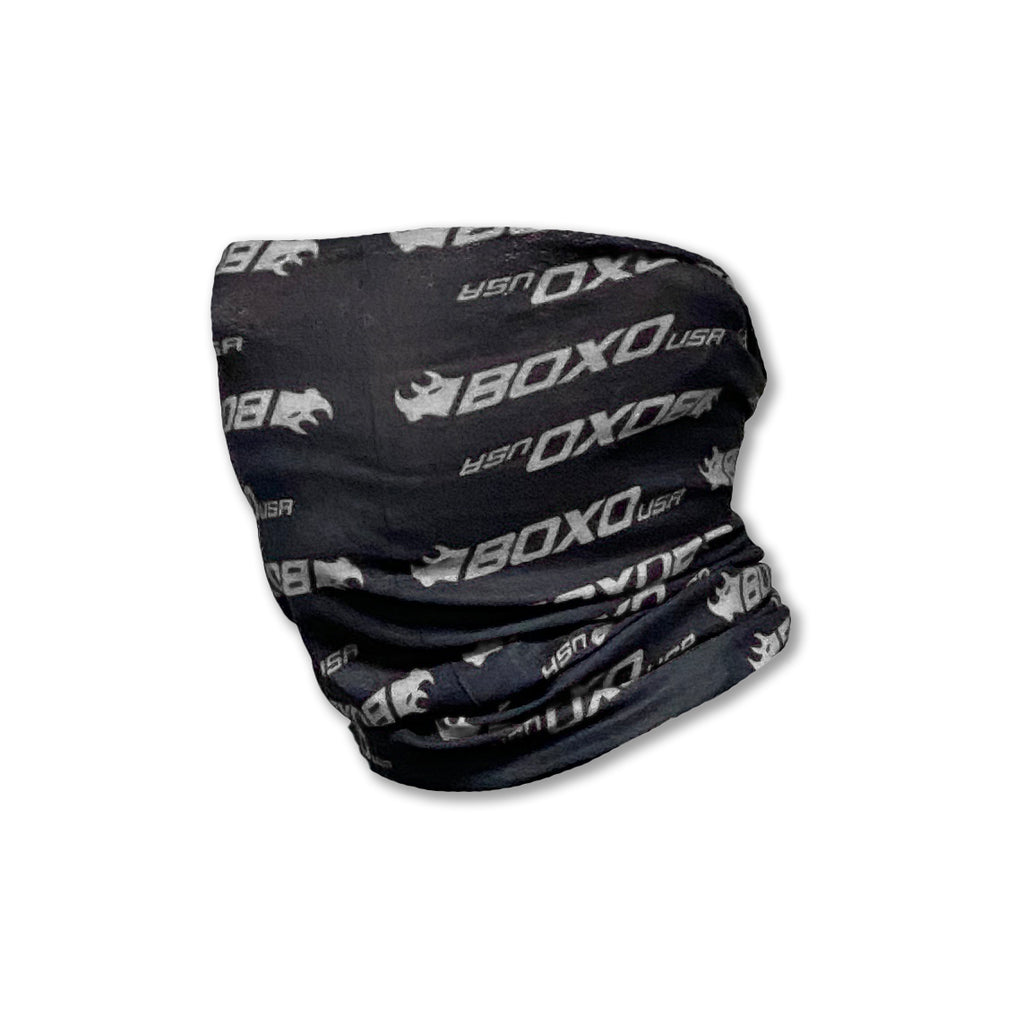 Black Neck Gaiter and Gray logo