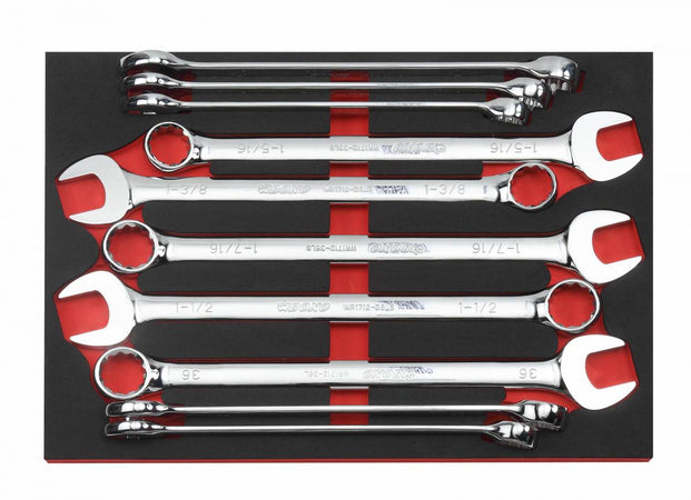 12 Pc Metric & SAE XL Large Combination Wrench Set