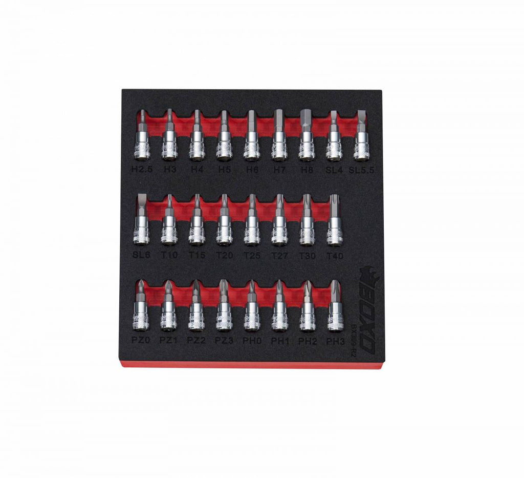 "25-Piece 1/4"" Drive Master Screwdriver Bit Socket Set"