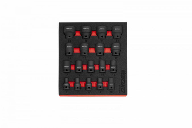 "18-Piece 3/8"" Dr 6-Point Metric Impact Socket Set"