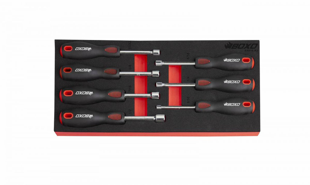 7-Piece SAE Nut Driver Set with Hollow Shank