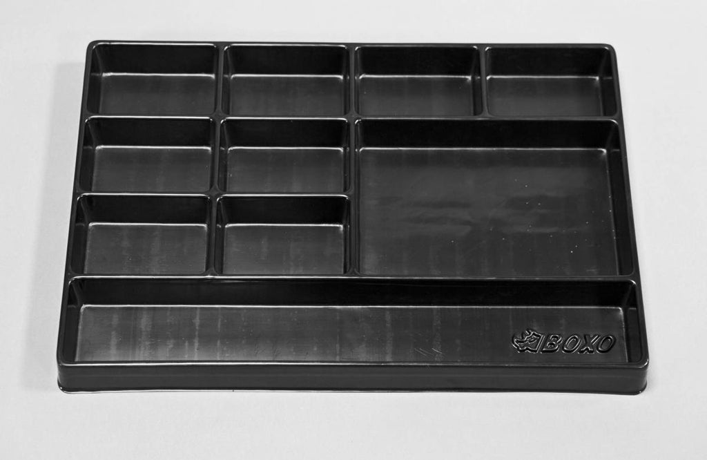 "16"" Universal, 10-Section, Deep Drawer Plastic Divider"