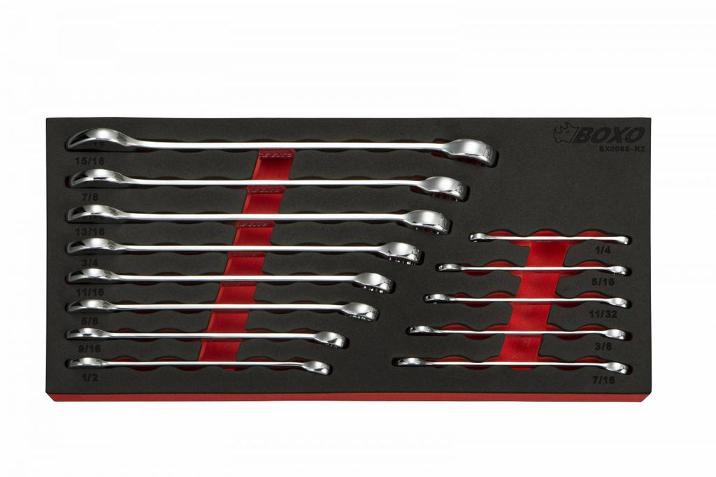13 Pc SAE Combination Wrench Set