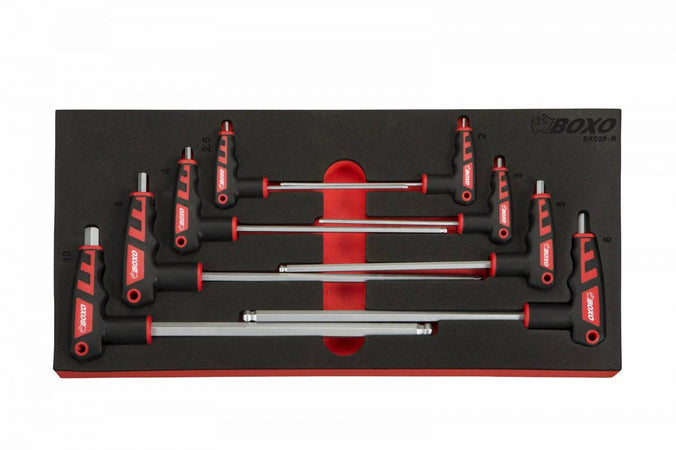 8-Piece Metric 2 Way T-Handle Ball Hex Key Set
