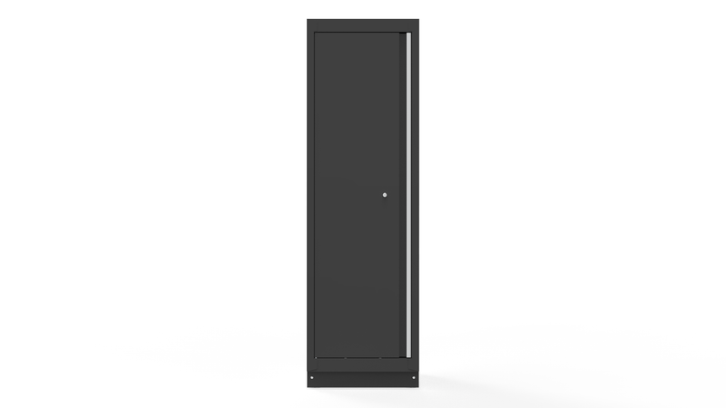 "24"" Tall Cabinet with Aluminum Handle, Dark Grey"