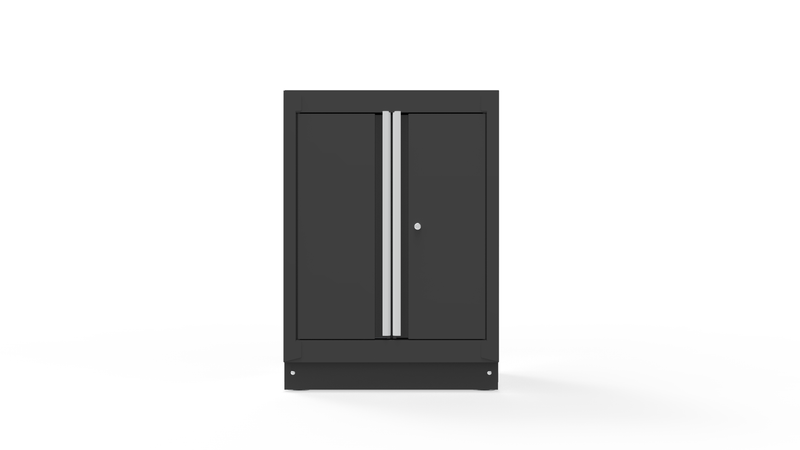 "26"" Double-Door Closet with Aluminum Handle, Dark Grey"