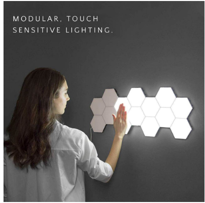 Hexagonal Lamps Modular touch sensitive creative lighting